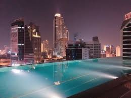Great view from the Infinity Pool at night Picture of Eastin Grand