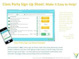 Easy Sign Up Sheet Class Sign Up Sheet Brrand Co