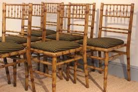 bamboo dining chairs. Good Set Of Six 1940s Faux Bamboo Painted Dining Chairs B