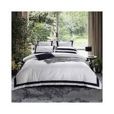 egyptian cotton hotel white bedding set luxury queen king size bed set duvet cover bed sheet spread fit sheet set parure de lit color bedding set 1 size