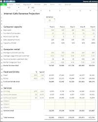 Restaurant Revenue Projection Spreadsheet Template Revenue