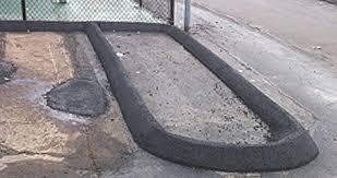 Asphalt Curb Installation New Haven Branford Ct Curb Repair