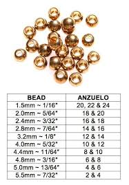 Bead Head To Hook Size Chart Steve Overley Oneangryleper On Pinterest