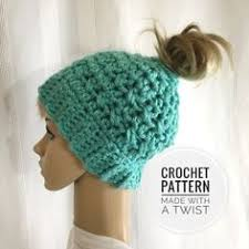 Bun Hat Pattern New Seashore Messy Bun Hat Crochet Hats SocksSlippers Pinterest