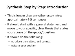 ap constructed response synthesis last ap essay type ppt  7 synthesis