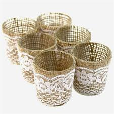 votive candles with holders bulk awesome lace burlap wrapped glass votive candle holders 424186