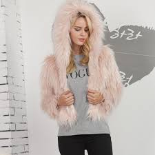 2019 women long hair faux fur hooded jacket padded coat with hat in soft touch 2018 new from suspender 52 07 dhgate com