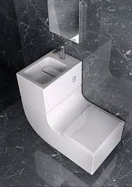 Water saving design combines sink and toilet The Spanish companyRoca