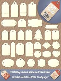 Tag Shape Template Gift Tag And Favour Shapes Template Download Size Christmas Sample