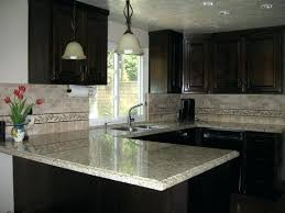 brown dark granite countertops kitchen