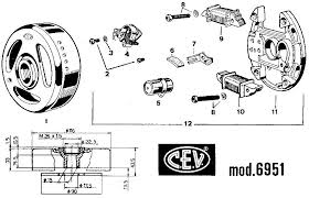 cev magnetos myrons mopeds cev 6951 magneto 90mm