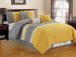 11 pc quilted vineyard fl embroidery striped comforter curtain set yellow white silver gray king com