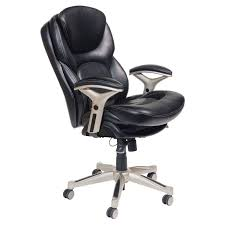 serta back in motion health and wellness mid back bonded leather executive office chair smooth black com