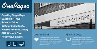 Free Responsive Html5 One Page Website Template Onepager