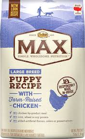 Nutro Max Large Breed Puppy Natural Chicken Meal Rice Recipe Dry Dog Food 25 Lb Bag