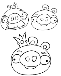 angry birds coloring pages awesome pigs drawing for kids at getdrawings