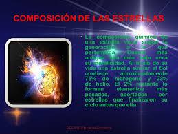 Resultado de imagen de Composición de las estrellas