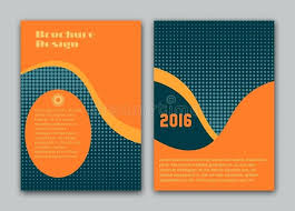 vector brochure flyer design layout template size front page and back book cover ilration stock