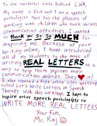 letter writers alliance letter writing for speech pathology letter writing for speech pathology