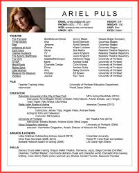 Acting Resume Template 2016 Memo Example
