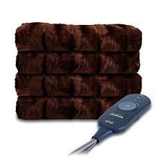 Sunbeam Heated Faux Fur Throw Blanket