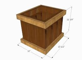 12 inch cedar garden planter box
