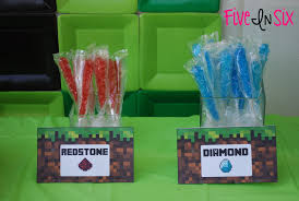 Minecraft Party Decorations Minecraft Party Decoration Ideas And Downloadable Printables