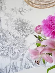 Een Muur Vol Bloemen Mijn Nieuwe Behang Eenig Wonen