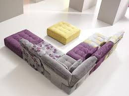 funky living room furniture. furniture terrific decorating ideas using rectangle yellow fabric tables and l shaped grey purple motif funky living room