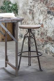 metal industrial furniture. Wood And Metal Industrial Stool Furniture