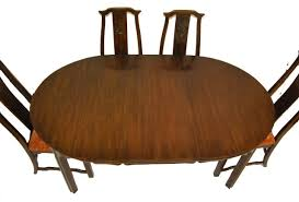 asian influence dining room table and chairs by