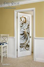 French Feathers Home Decor And Accessories Feathers Interior Doors With Glass Etching French Decor 64