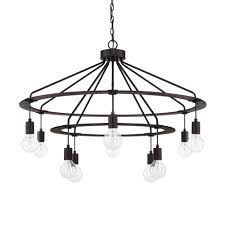 capital lighting fixture company black iron 10 light chandelier