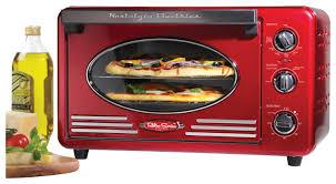 nostalgia electrics retro series 6 slice toaster oven red