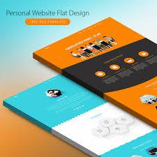 Flat Website Design Ideas 018 Template Ideas Personal Website Flat Design Free Psd
