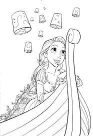 Disney Rapunzel Coloring Pages Free Printable Disney Princess
