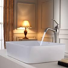 kraus c kcv 121 15000 white rectangular ceramic sink and ventus faucet expressdecor com