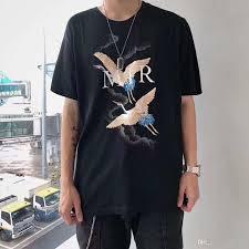 Mens Designer Grey Shirt 2019 Paris Ami Mens Designer T Shirts Heron Printed Short Sleeves Miri Mens Fashion Designer T Shirts Top Short Sleeve Zdlp75 T Shirts Cheap T Shirts