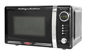 nostalgia electrics rmo770blk retro series countertop microwave oven