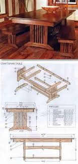 mission style trestle dining table plans. craftsman style dining table plans - furniture and projects | woodarchivist.com mission trestle
