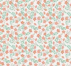 Cozz Smile Bloemetjes Oranje Groen 61163 04 De Behangwinkelier