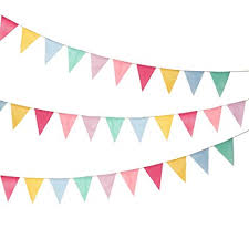 Triangle Banner Shappy 18 Flags Imitated Burlap Pennant Banner Multicolor Fabric Triangle Flag Bunting For Party Hanging Decoration