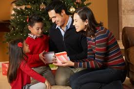 Image result for picture of giving gifts at christmas