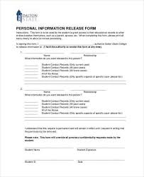 basic personal information form release of personal information form form mv 15gc general consent