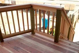 image of diy deck railing wooden