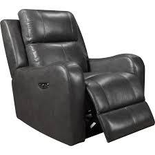 leather italia 1555 e71317 01177066lv cortana power reclining armchair in grey top grain leather