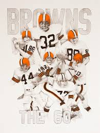 jimmy brown drawing cleveland browns the 60s by joe lisowski on cleveland browns wall art with cleveland browns the 60 s drawing by joe lisowski