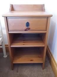 ikea leksvik bedside table cabinet pine colour drawer shelves