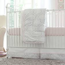 pink and gray damask crib bedding baby bedding for girls gray
