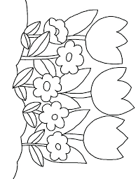 Flowers Coloring Pages For Kids Coloring Picture Of Flower Flower